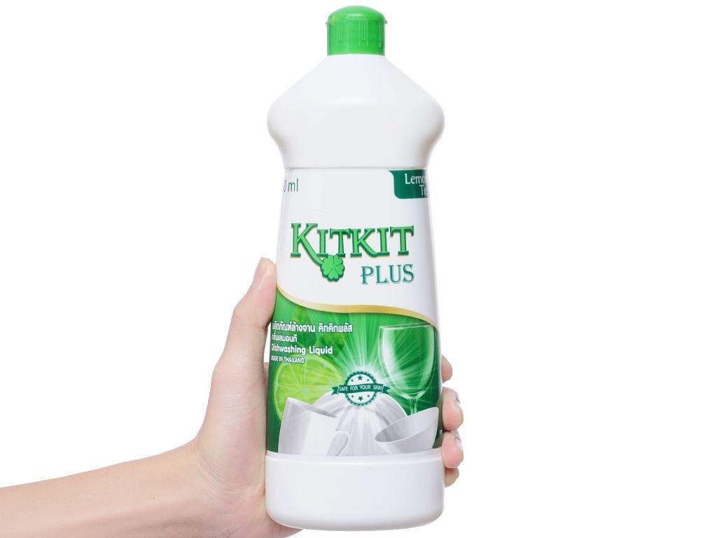 Nước rửa chén KitKit Plus hương trà xanh & chanh chai 750ml 3