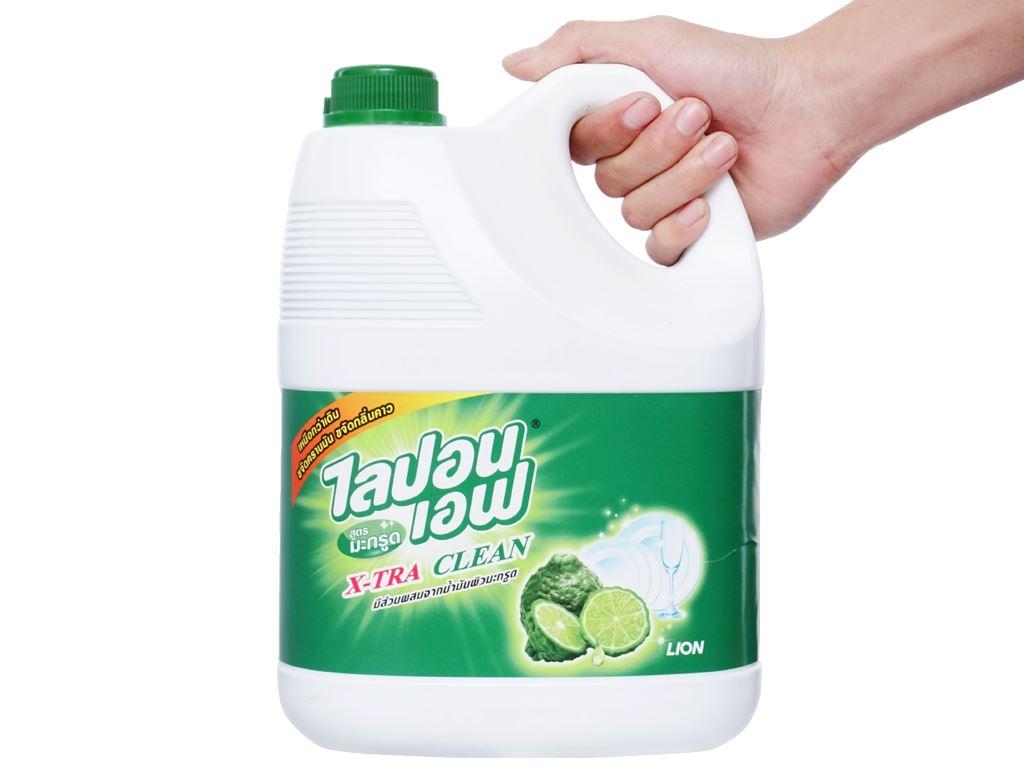 Nước rửa chén Lipon hương dầu thơm Bergamot can 3.6 lít 3