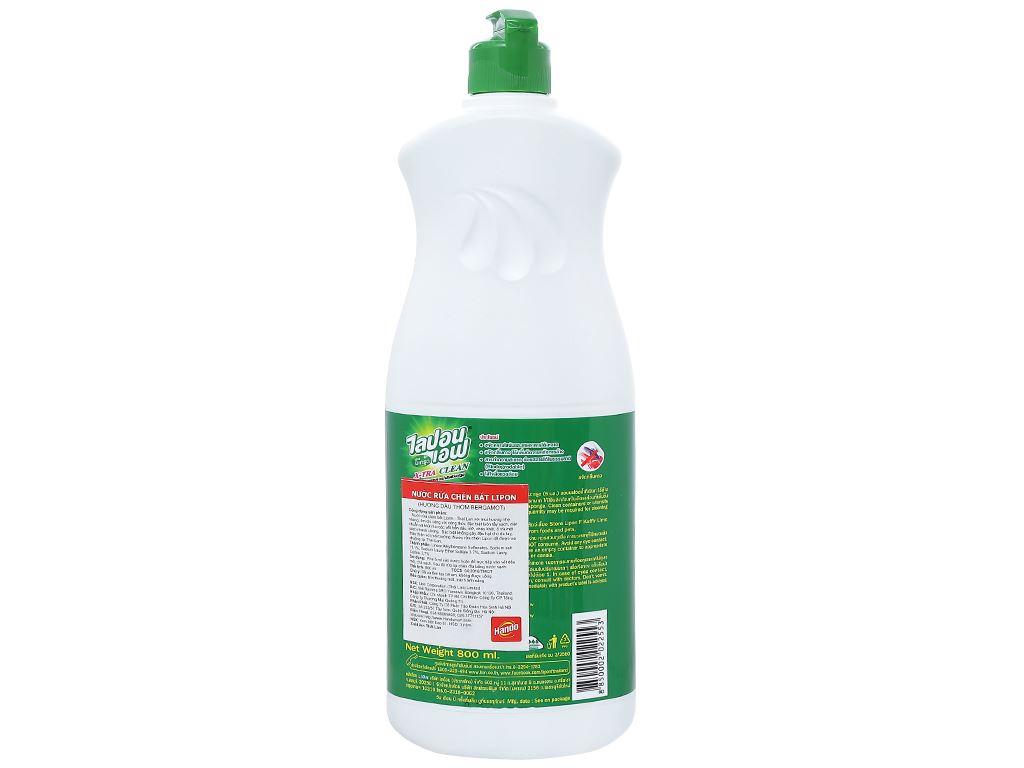 Nước rửa chén Lipon hương dầu thơm Bergamot chai 800ml 2