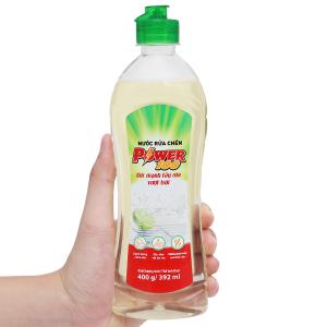 Nước rửa chén POWER100 hương chanh chai 400g