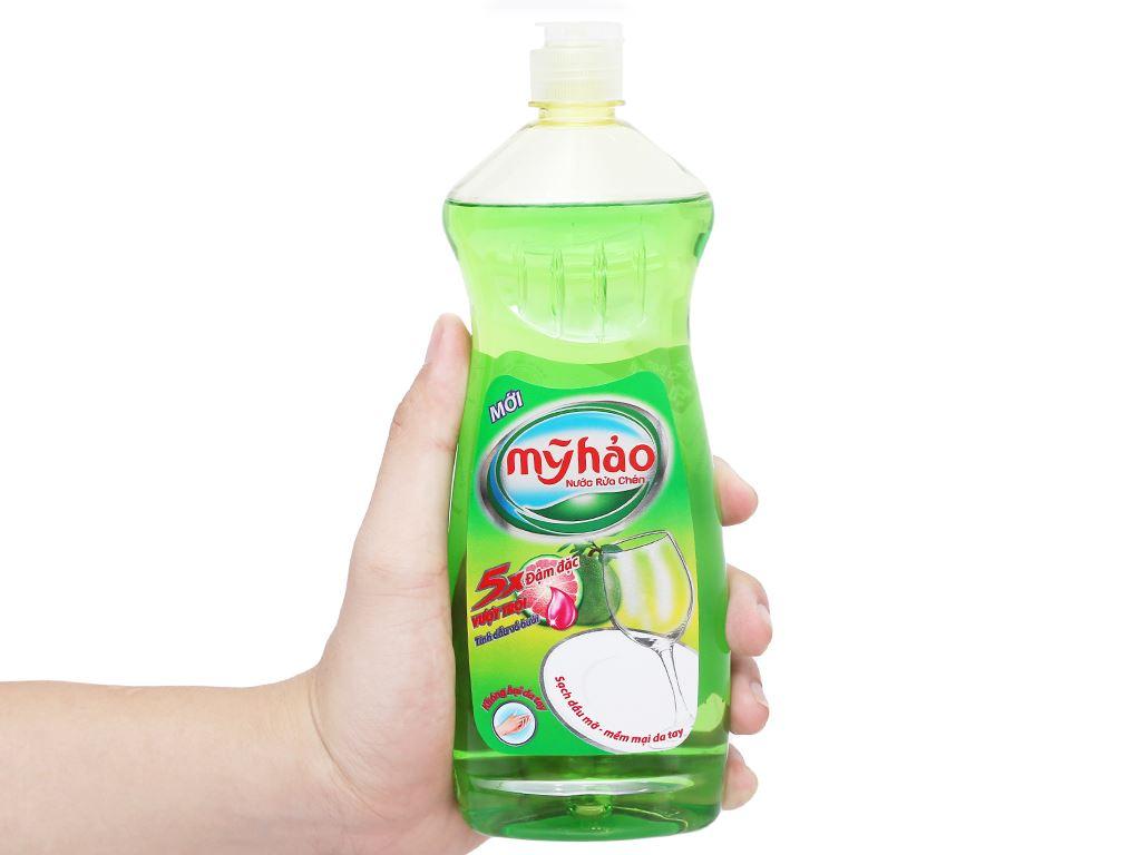 Nước rửa chén Mỹ Hảo 5X đậm đặc tinh dầu vỏ bưởi chai 400g 8