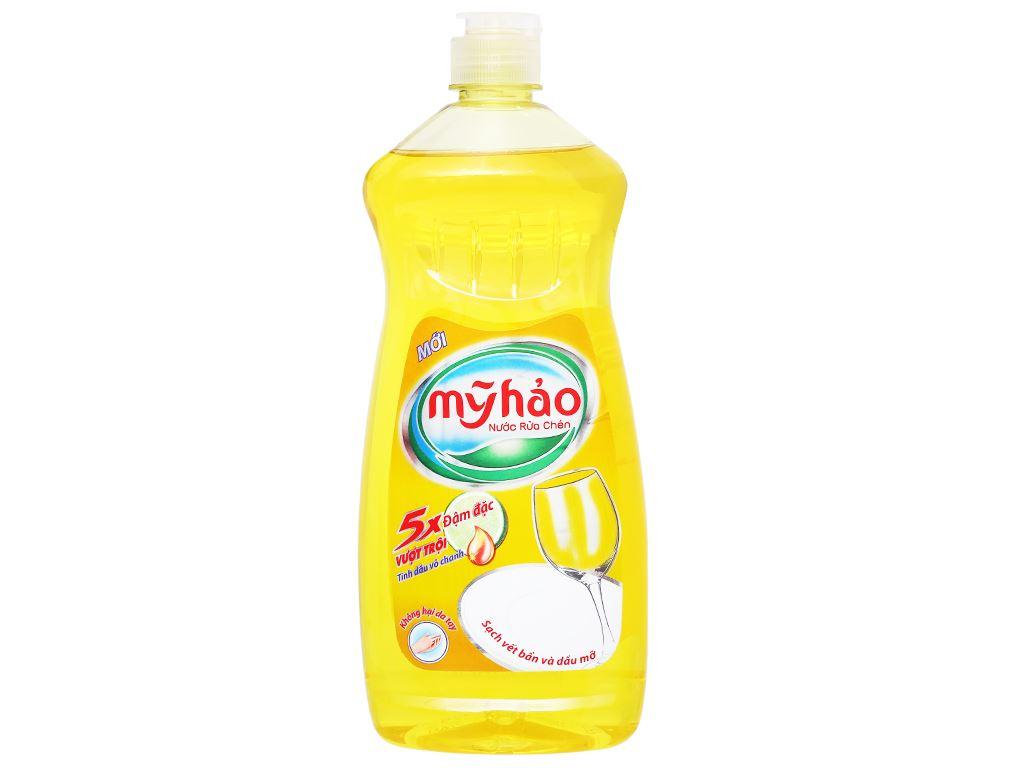 Nước rửa chén Mỹ Hảo 5X đậm đặc tinh dầu vỏ chanh chai 750g 1
