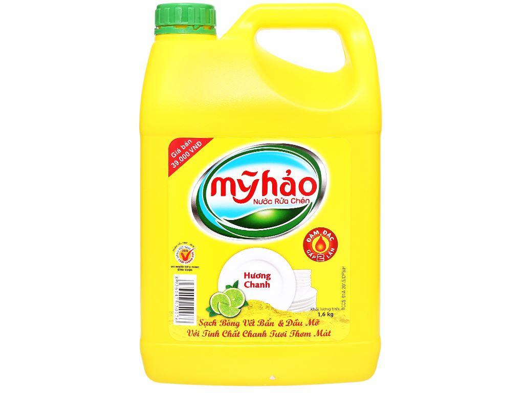 Nước rửa chén Mỹ Hảo hương chanh can 1.6kg 1