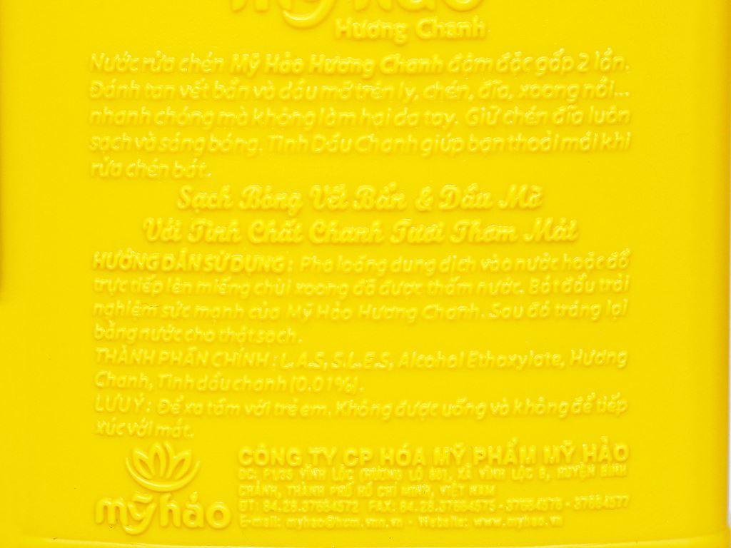 Nước rửa chén Mỹ Hảo hương chanh can 1.6kg 3