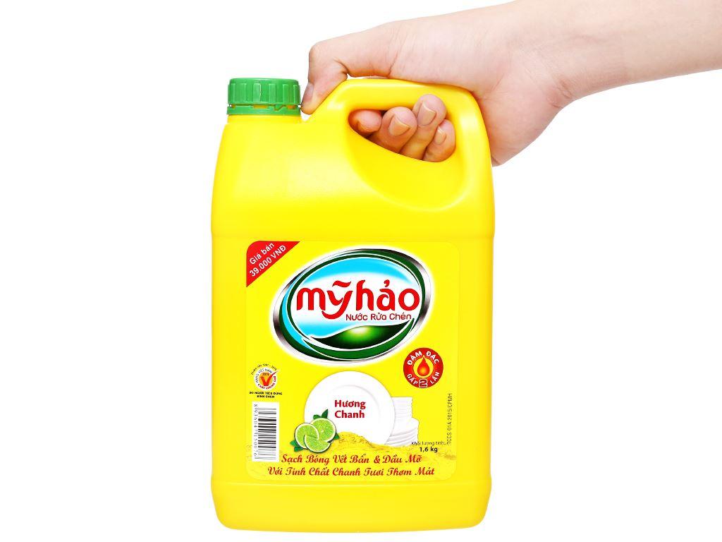 Nước rửa chén Mỹ Hảo hương chanh can 1.6kg 4