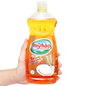 Nước rửa chén Mỹ Hảo 5X đậm đặc tinh dầu gừng & chanh chai 750g
