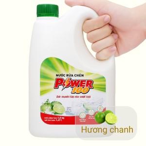 Nước rửa chén POWER100 hương chanh can 1.47 lít