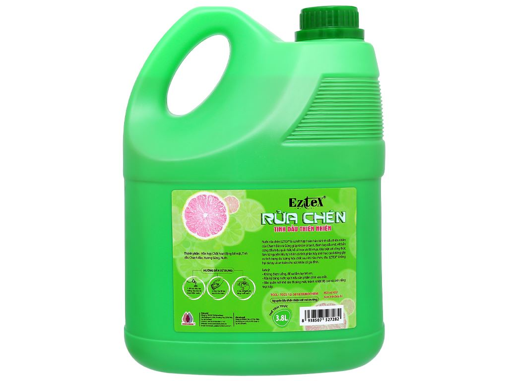 Nước rửa chén Ezitex tinh dầu thiên nhiên can 3.8 lít 2