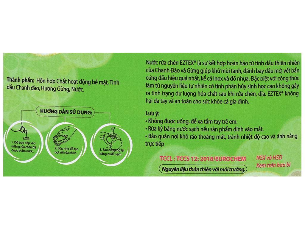 Nước rửa chén Ezitex tinh dầu thiên nhiên can 3.8 lít 3