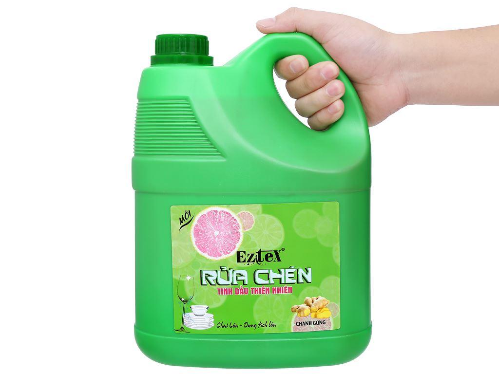Nước rửa chén Ezitex tinh dầu thiên nhiên can 3.8 lít 4
