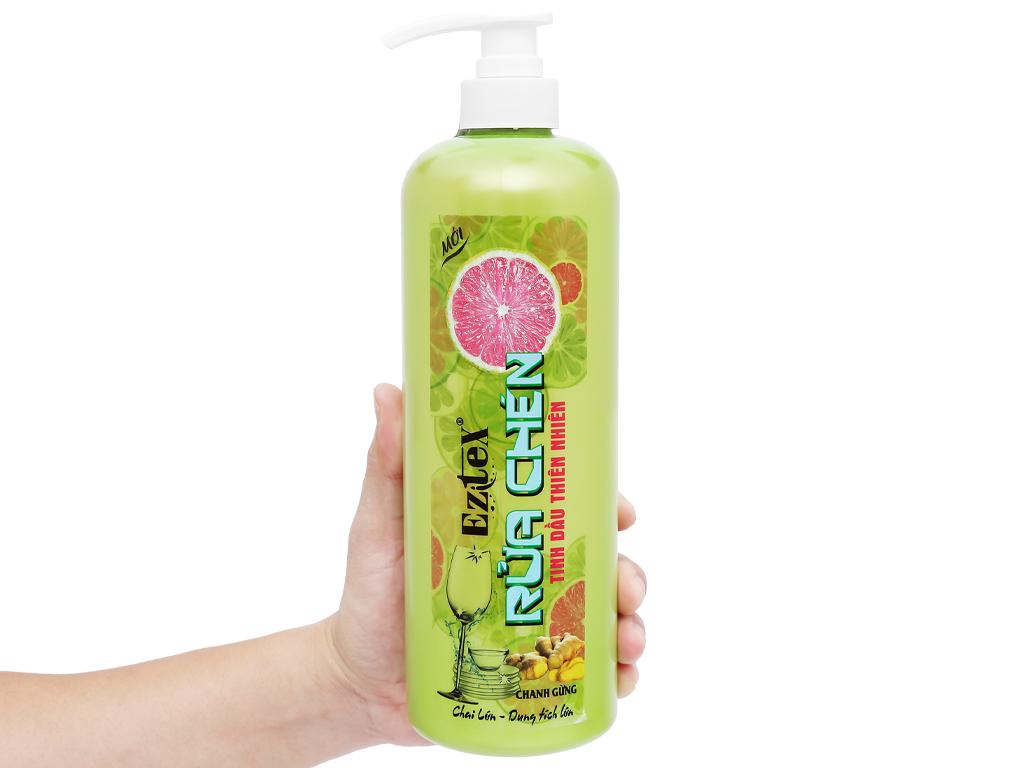 Nước rửa chén Ezitex tinh dầu thiên nhiên chai 1 lít 4