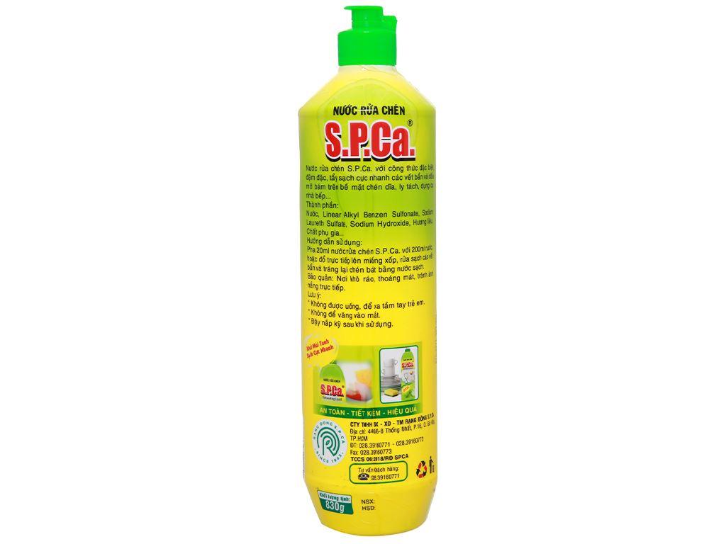 Nước rửa chén S.P.Ca. chiết xuất chanh chai 830g 2