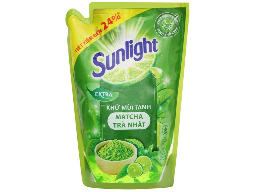 Nước rửa chén Sunlight matcha trà Nhật túi 2.1kg 2