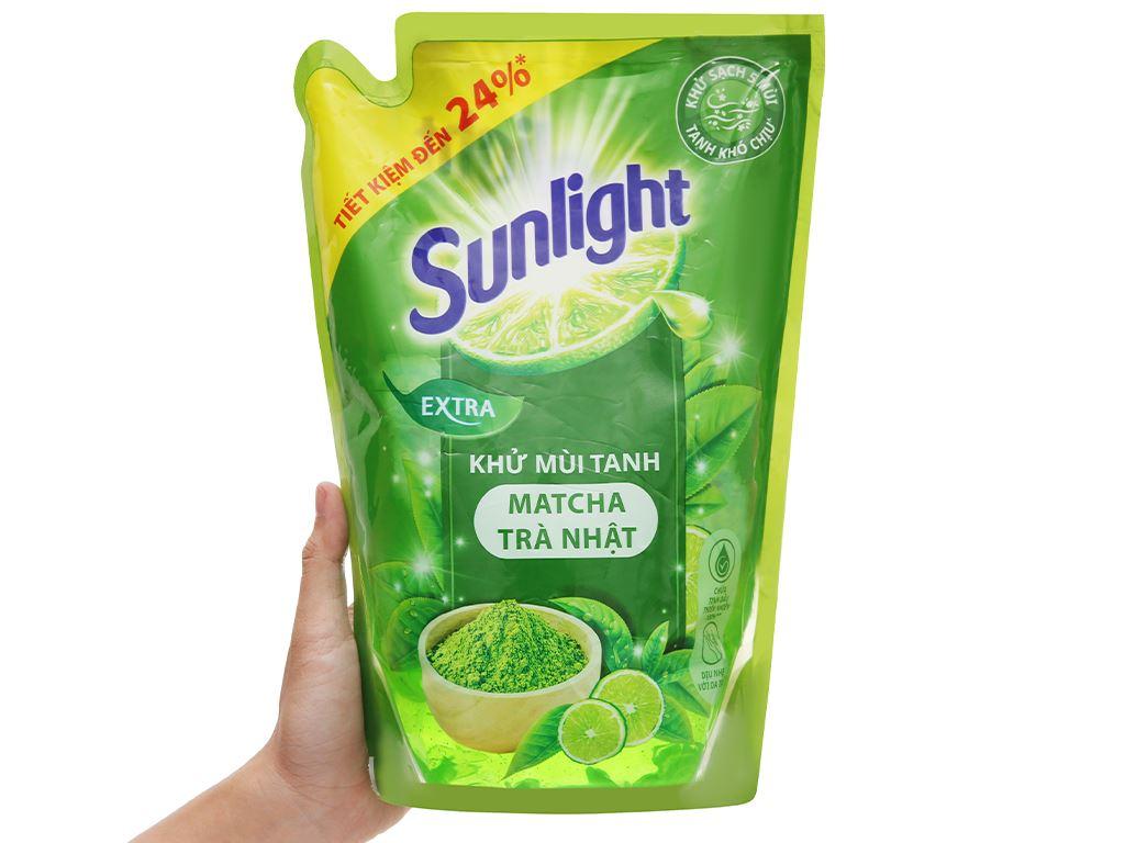 Nước rửa chén Sunlight matcha trà Nhật túi 2.1kg 5
