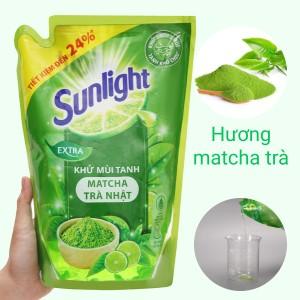 Nước rửa chén Sunlight matcha trà Nhật túi 2.1kg