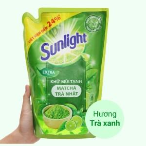 Nước rửa chén Sunlight matcha trà Nhật túi 2 lít