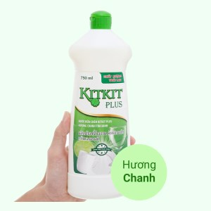 Nước rửa chén KitKit Plus hương trà xanh & chanh chai 750ml