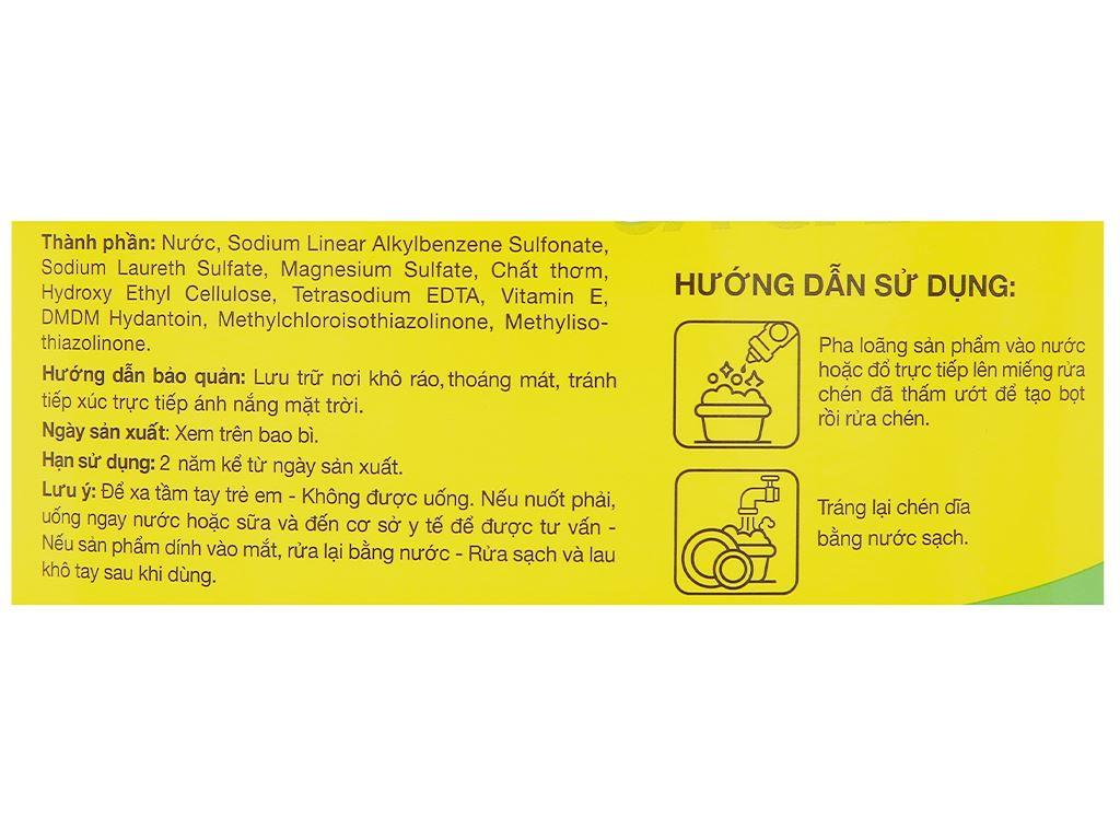 Nước rửa chén IZI HOME hương sả chanh can 4kg 3