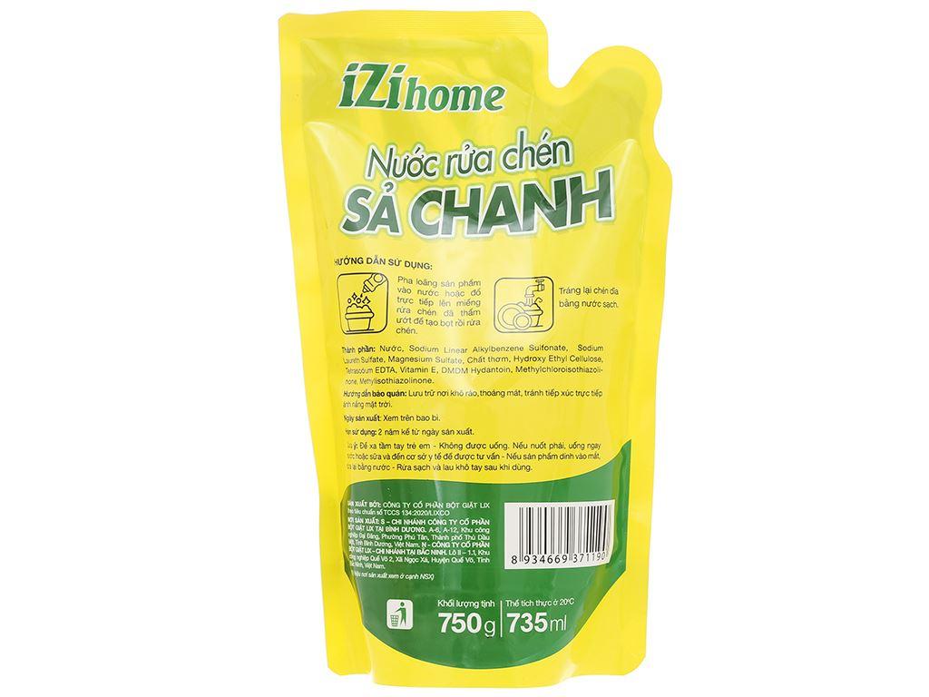 Nước rửa chén IZI HOME hương sả chanh túi 750g 2