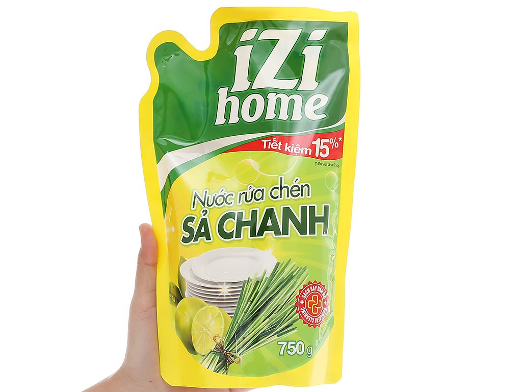 Nước rửa chén IZI HOME hương sả chanh túi 750g 4