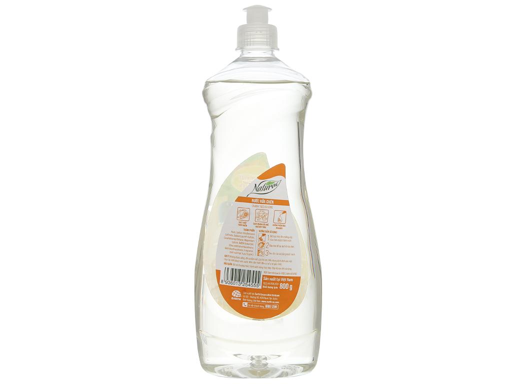 Nước rửa chén Gift Natural chanh yuzu & gừng chai 800g 2