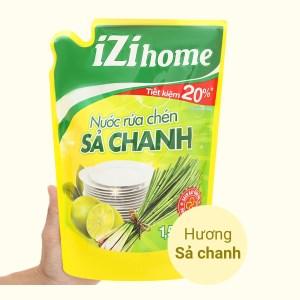 Nước rửa chén IZI HOME hương sả chanh túi 1.5kg