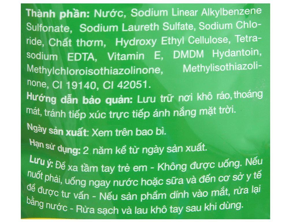 Nước rửa chén IZI HOME hương trà xanh muối biển túi 1.5kg 3