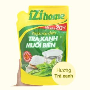 Nước rửa chén IZI HOME hương trà xanh muối biển túi 1.5kg