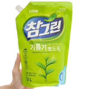 Nước rửa chén Charmgreen tinh chất trà xanh túi 1.2 lít