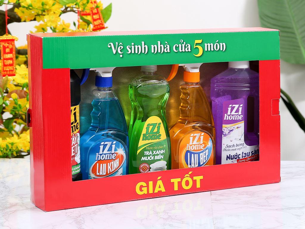 Bộ vệ sinh nhà cửa IZI HOME 5 món 1