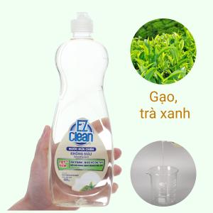Nước rửa chén Ez Clean chiết xuất gạo và trà xanh chai 800g
