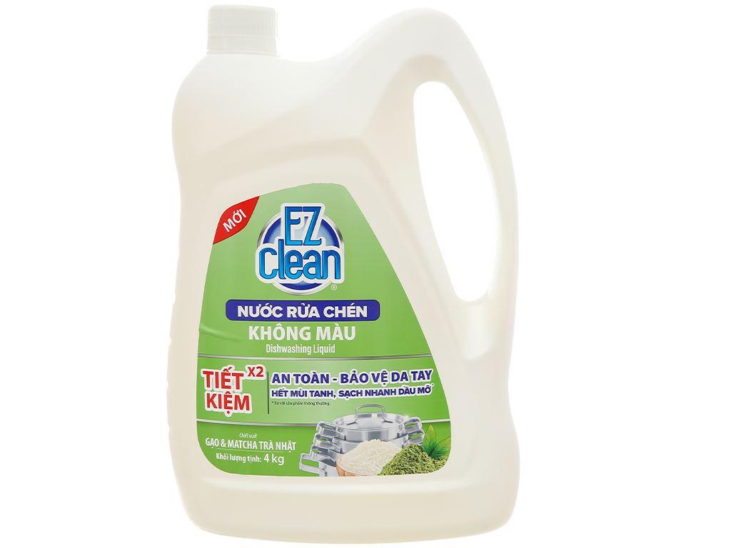 Nước rửa chén Ez Clean chiết xuất gạo và trà xanh can 4kg 1