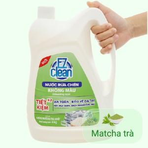 Nước rửa chén Ez Clean chiết xuất gạo và trà xanh can 4kg