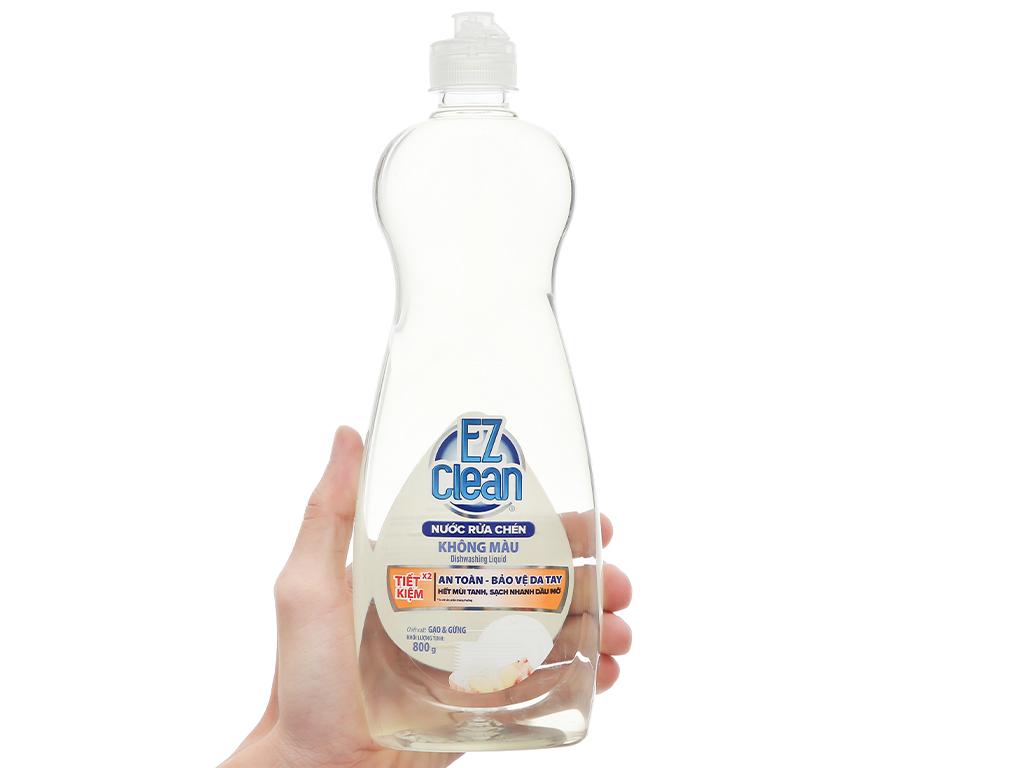Nước rửa chén Ez Clean chiết xuất gạo và gừng chai 800g 4