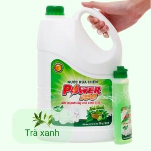 Combo nước rửa chén POWER100 hương trà xanh can 3.8 kg & chai 200g