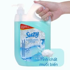 Nước rửa chén Suzy muối biển can 2.1kg