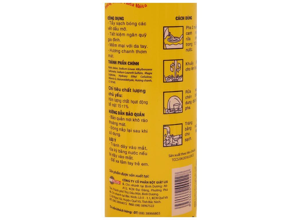 Nước rửa chén Lix Vitamin E hương Chanh 800g 4