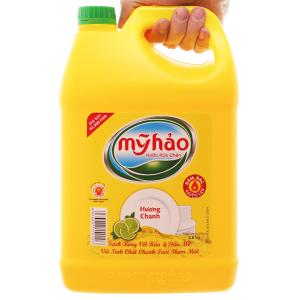 Nước rửa chén Mỹ Hảo hương chanh can 3.8kg