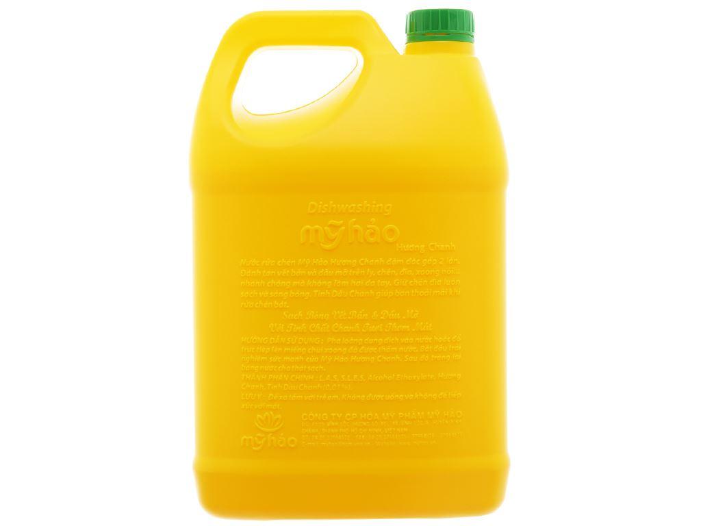 Nước rửa chén Mỹ Hảo hương chanh can 3.8kg 2