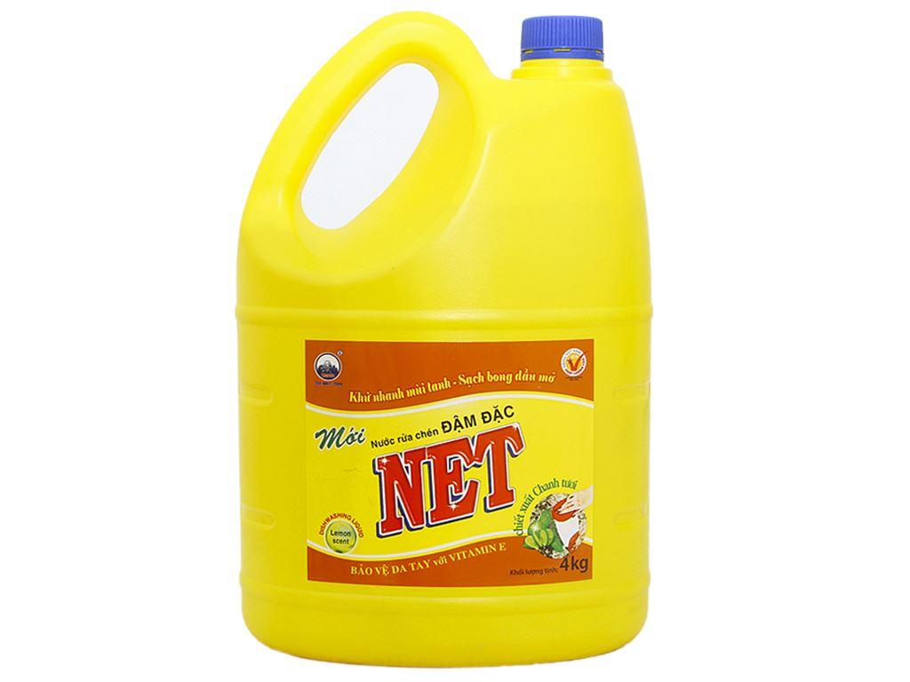 Nước rửa chén NET Đậm đặc chiết xuất chanh tươi 4kg 1
