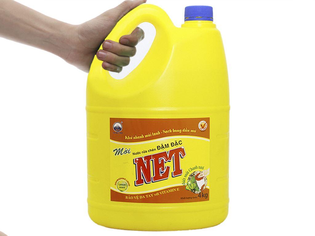 Nước rửa chén NET Đậm đặc chiết xuất chanh tươi 4kg 3