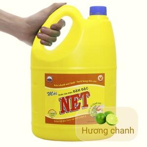 Nước rửa chén NET đậm đặc chiết xuất chanh tươi can 3.88 lít