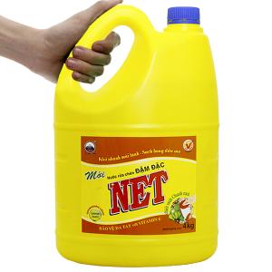 Nước rửa chén NET đậm đặc chiết xuất chanh tươi can 4kg