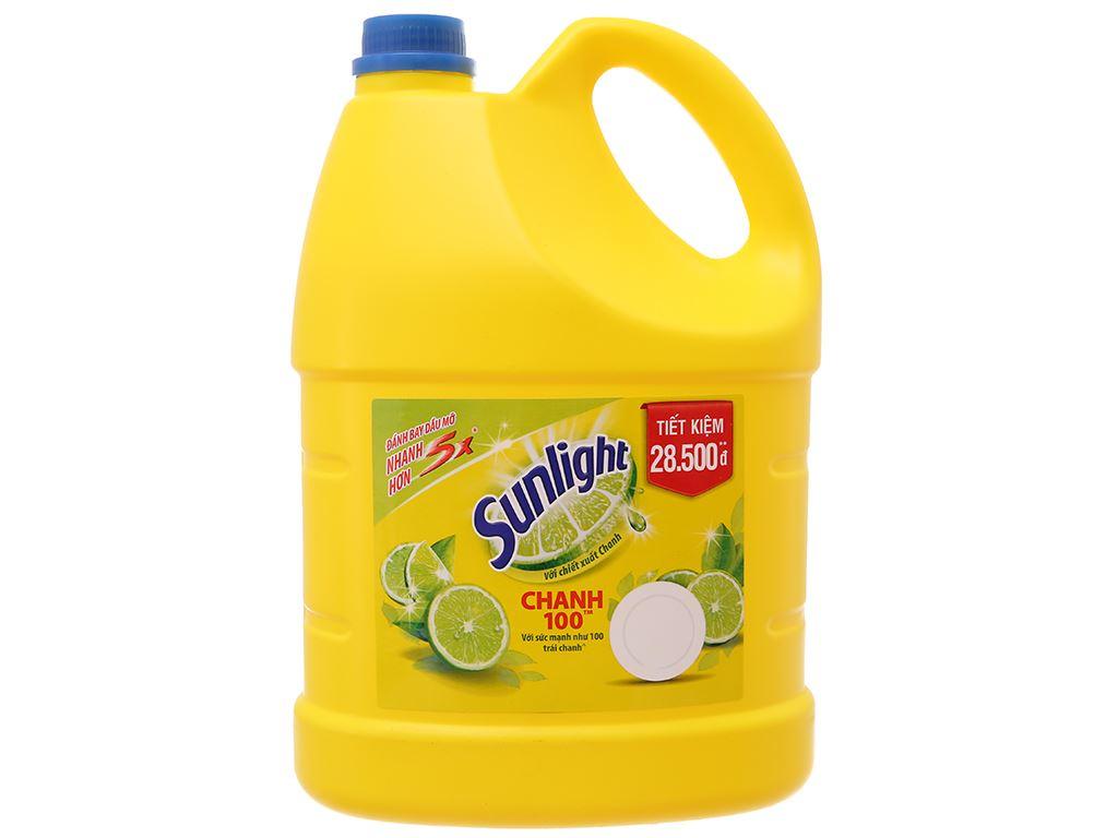 Nước rửa chén Sunlight Chanh 100 chiết xuất chanh tươi can 3.8kg 2