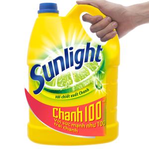 Nước rửa chén Sunlight Chanh 100 chiết xuất chanh tươi can 3.8kg