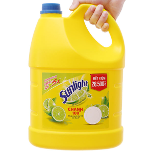Nước rửa chén Sunlight Chanh 100 chiết xuất chanh tươi can 3.67 lít