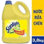 Nước rửa chén Sunlight hương Chanh can 3.8kg