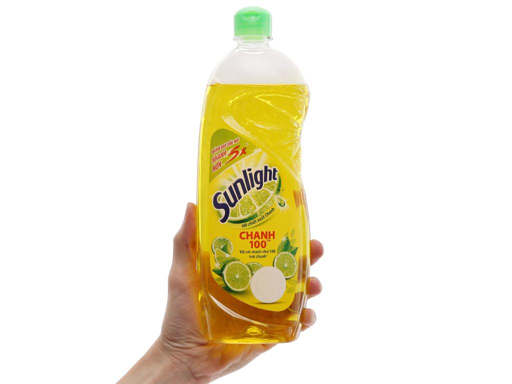 Nước rửa chén Sunlight Chanh 100 chiết xuất chanh tươi chai 750g 5