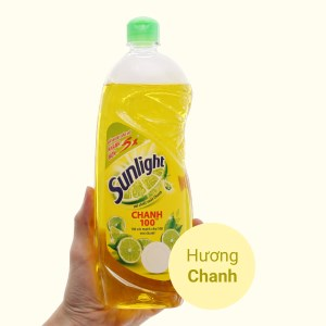 Nước rửa chén Sunlight Chanh 100 chiết xuất chanh tươi chai 725ml