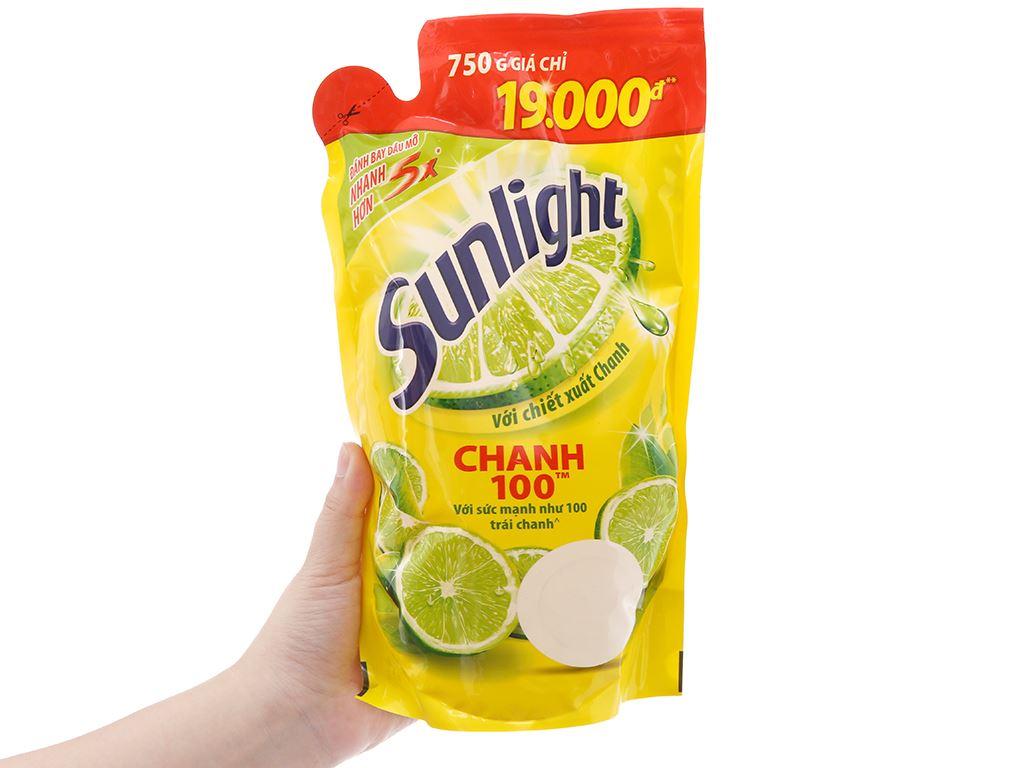 Nước rửa chén Sunlight Chanh 100 chiết xuất chanh tươi túi 725ml 5
